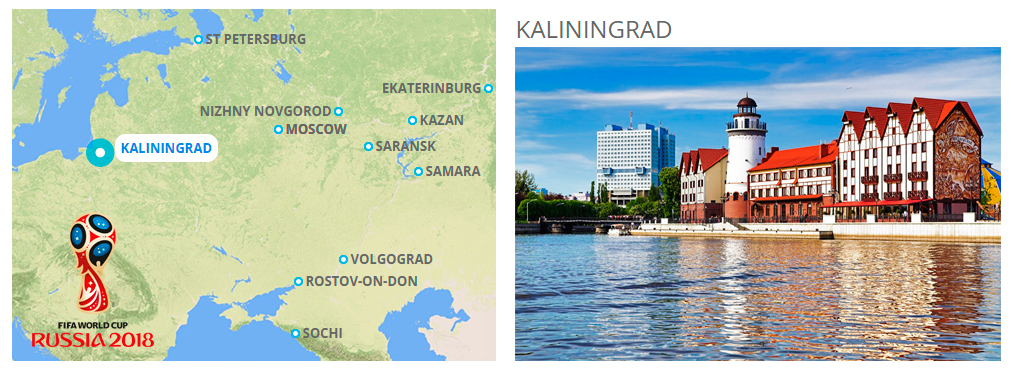 Kaliningrad - host city of 2018 FIFA World Cup in Russia on kaliningrad map with cities, kaliningrad port map, kaliningrad map of northern europe, city of kaliningrad russia map,